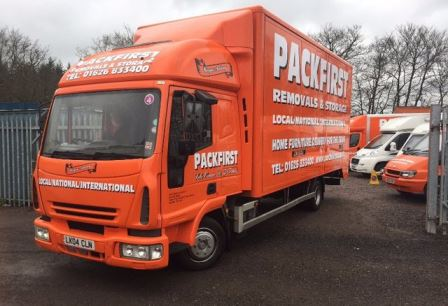 Packfirst removals large lorry in south Sevon